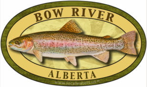 Bow River Rainbow Trout Sticker Fishing Decal Alberta Canada