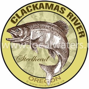 Clackamas River Steelhead fishing decal logo sticker Oregon