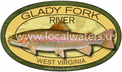 Glady Fork West Virginia Rainbow Trout sticker fishing decal logo