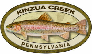 Kinzua Creek Rainbow Trout Sticker Pennsylvania Fishing Decal