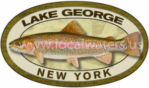 Lake George Rainbow Trout Sticker Fishing Decal New York