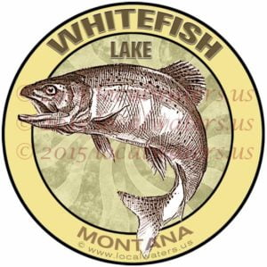 Whitefish Lake fishing sticker Montana decal