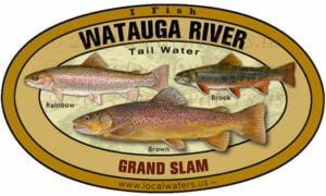 Watauga River Sticker Grand slam Trout decal
