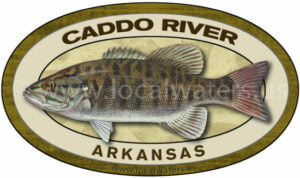 Caddo River Sticker Fishing Decal Smallmouth Bass Arkansas