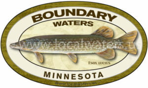 Boundary Waters Northern Pike Fishing Minnesota Sticker logo decal