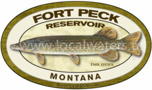 Fort Peck Reservoir Northern Pike Fishing Sticker Montana Decal Logo